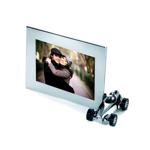 cadre photo chrom avec voiture d tachable aimant id e de cadeau pour homme le cadeau pour. Black Bedroom Furniture Sets. Home Design Ideas